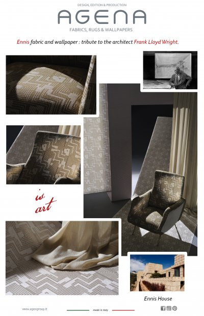 Ennis fabric and wallpaper